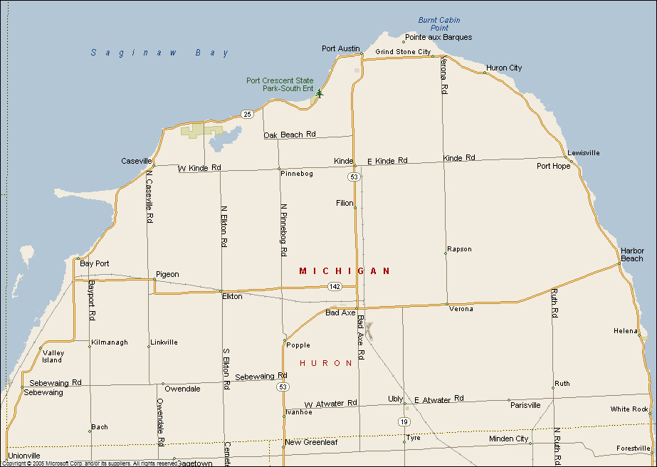 Map of Huron County